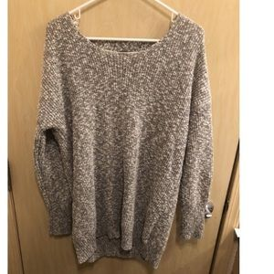 Knit Sweater with Lace-up Back